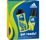 Adidas Get Ready! for Him deodorant sprej 150 ml + sprchový gel 250 ml, kosmetická sada