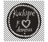Bohemia Gifts & Cosmetics Dekorační obraz na zavěšení Kuchyně 30 x 30 cm