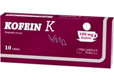 Kofein K doplněk stravy zvyšuje psychickou aktivitu, snižuje fyzickou únavu 100 mg 10 tablet