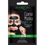 Marion Detox Black Peel Off s aktívnym dreveným uhlím a lékořicovým extraktom pre uvoľnenie pórov zlupovaciu pleťová maska 6 g