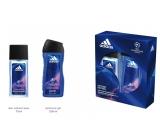 Adidas UEFA V parfumovaný deodorant sprej 75 ml + sprchový gél 250 ml kozmetická sada pre mužov