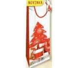 Nekupto Darčeková papierová taška na fľašu 33 x 10 x 9 cm Vianočný 1817 30 WLH