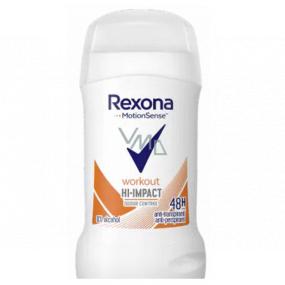 Rexona Workout HI-Impact tuhý antiperspirant stick s 48-hodinovým účinkom pre ženy 40 ml
