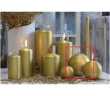 Lima Alfa sviečka zlatá guľa 100 mm 1 kus