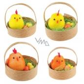 Kuřátka v košíčku 5 cm, 2 ks 1 košíček