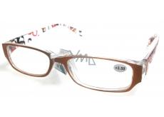 Okuliare diop.plast. + 4 oranžovo hnedé stranice s obdĺžniky MC2084