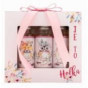 Bohemia Gifts & Cosmetics Při narození holčičky lázeň 50 ml + šampon na vlasy 50 ml + sprchový gel 50 ml pro děti 0 - 3 let kosmetická sada