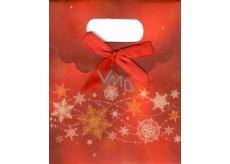 Albi Darčeková papierová taška malá Veselé Vianoce 11 x 13,5 x 6,5 cm