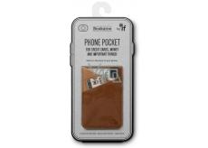 If Bookaroo Phone Pocket Puzdro - vrecko na telefón na doklady hnedý 195 x 95 x 18 mm