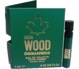 Dsquared2 Green Wood toaletná voda pre mužov 1 ml s rozprašovačom, vialka