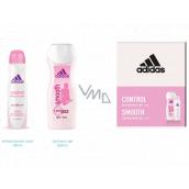 Adidas Control Smooth antiperspirant dezodorant sprej pre ženy 150 ml + sprchový gél 250 ml, kozmetická sada