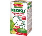 Terezia nekašle 100% prírodný bylinný sirup pre podráždený krk v období nachladnutia 150 ml