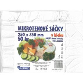 IMPRO Sáčok mikroténové v bloku 12my 250 x 350 mm 50 kusov