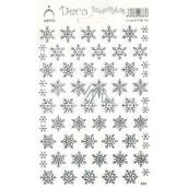 Arch Holografické dekoračné samolepky vianočné vločky strieborné 1 arch