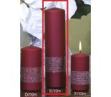 Lima Stuha sviečka vínová valec 60 x 220 mm 1 kus