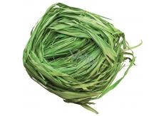 Raffia zelená nafarbené lyko na dekoráciu 30 g