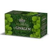 Grešík Zelený čaj s ginkgo pôsobí priaznivo na zlepšenie pamäti, krvný obeh v mozgu nálevové sáčky 20x1,5mm g
