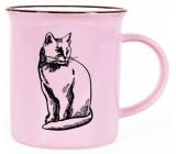 Albi Keramický plecháčik Mačka ružový 320 ml