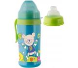Rotho Babydesign Cool Friends 10+ měsíců nekapající láhev plastová Boy - silikonový náustek 360 ml