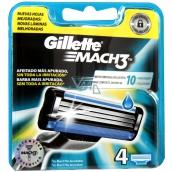 Gillette Mach 3 náhradné hlavice 4 kusy