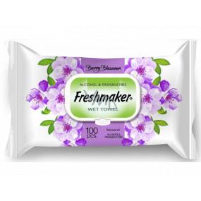 Freshmaker Berry Blossom - Kvety kozmetické vlhčené obrúsky 100 kusov