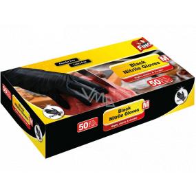 Fino Nitrilové rukavice čierne, veľkosť M 50 kusov