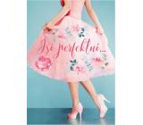 Albi Hracie prianie do obálky Ružové retro šaty Si perfektná 14,8 x 21 cm
