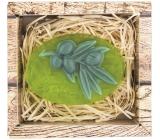 Bohemia Gifts & Cosmetics Natur Oliva ručně vyráběné toaletní mýdlo v krabičce 90 g
