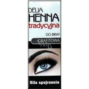 Delia Cosmetics Henna farba na obočie Grafitová 2 g