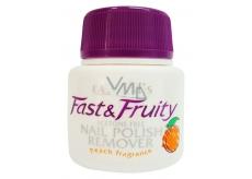 Easy Nails Fast & Fruity odlakovač na nehty s houbičkou Broskev 50 ml