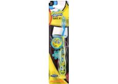 SpongeBob Soft 3D zubní kartáček pro děti s krytkou