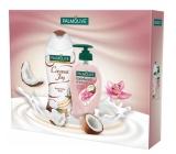 Palmolive Kokosový sprchový gell 250 ml + Orchid Kokos tekuté mýdlo 250 ml kosmetická kazeta