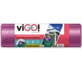 VIGO! Vrecia na odpad zaťahovacie fialové, 27 μ, 120 litrov 70 x 100 cm 10 kusov