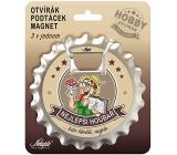 Nekupto Hobby 3v1 otvárač, podtácek, magnet Najlepšie hubár 10 cm
