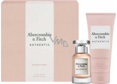 Abercrombie & Fitch Authentic Woman toaletná voda pre ženy 50 ml + telové mlieko 200 ml, darčeková sada