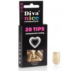 Diva & Nice Tips 20 Nalepovacie nechty zlaté 20 kusov