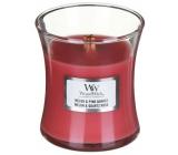 Woodwick Melon & Pink Quartz - Melón a ružový kremeň vonná sviečka s dreveným knôtom a viečkom sklo malá 85 g