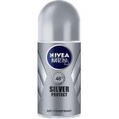 Nivea Men Silver Protect kuličkový antiperspirant deodorant roll-on pro muže 50 ml