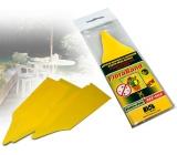 Papierne múdry FloraBand Lepové dosky k ochrane rastlín pre zapichnutie do substrátu 5 kusov