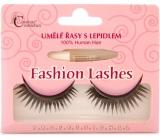 Absolute Cosmetics Fashion Lashes Umělé nalepovací řasy středně dlouhé obloučkové černé s lepidlem 047 černé 1 pár