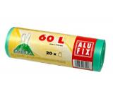 Alufix Sáčky do odpadkového koša zaťahovacej zelené, 15 μ, 60 litrov, 64 x 71 cm, 20 kusov HDPE