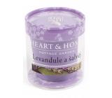 Heart & Home Levanduľa Sójová sviečka bez obalu horí až 15 hodín 53 g