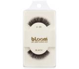 Bloom Natural nalepovací řasy z přírodních vlasů obloučkové černé č. 20 1 pár