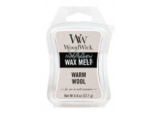 Woodwick Warm Wool - Hrejivá vlna vonný vosk do aromalampy 22.7 g