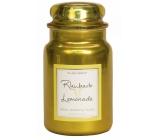 Village Candle Rebarborová citronáda - Rhubarb Lemonade vonná sviečka v skle 2 knôty 602 g
