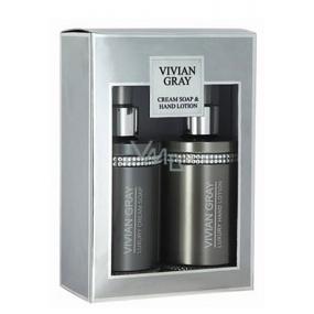 Vivian Gray Crystal Gray telové mlieko 250 ml + sprchový gél 250 ml, kozmetická sada