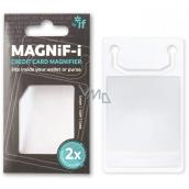 If magnify-i Credit Card Lupa vo veľkosti kreditnej karty 2 x zväčšenie