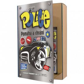 Bohemia Gifts Policajt sprchový gél 200 ml + šampón na vlasy 200 ml, kniha kozmetická sada