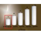 Lima Gastro hladká svíčka bílá válec 70 x 100 mm 1 kus