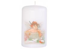Candle Anděl s trumpetou vonná svíčka válec 50 x 80 mm